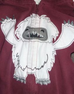 Gymborees Crazy 8 6 PC Abominable Monster Tops Jacket Socks Pant Set