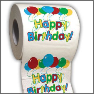 Happy Birthday Party Toilet Paper Roll Great for Parties Funny Gag
