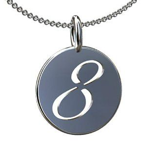 14K Yellow Gold Number Eight 8 Charm Pendant Necklace P&P