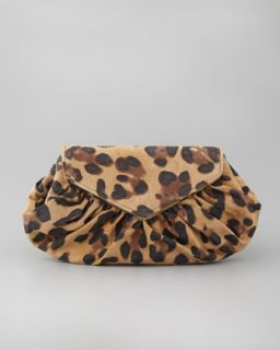 Lauren Merkin Diana Leopard Print Suede Pouchette   Neiman Marcus