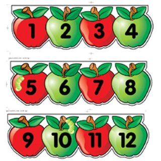 TEACHING PRESS MINI BB SET APPLES NUMBER LINE