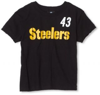 Steelers Troy Polamalu 8 20 Name & Number Tee Shirt Boys Clothing