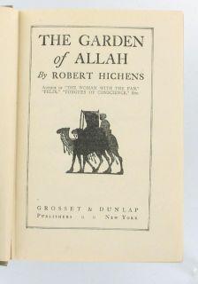 Antique Garden of Allah Robert Hitchens 1904 HC Book