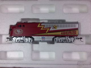 HO Scale Train Set NFL SF 49er Hawthorne Village