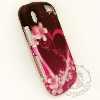 Purple Love Hard Protector Case Snap on Phone Cover for Pantech