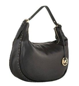 Michael Kors Ursala black Pebbled Leather Hobo Shoulder BAG