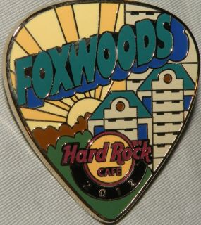 Hard Rock Cafe Foxwoods Postcard Guitar Pick 2012 Pin
