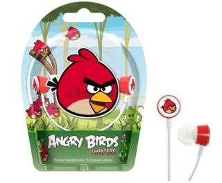 Each set of Angry Birds headphones comes in lively packaging