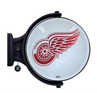 Authentic NHL Detroit Red Wings Hockey Revolving Wall Light Lamp