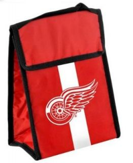 Detroit Red Wings NHL Hockey Velcro Close Insulated Lunch Bag Box