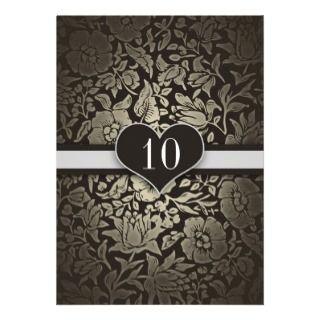 10 años de boda del aniversario de invitaciones de anuncio de