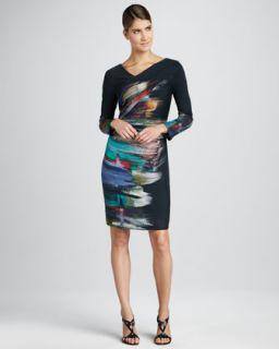 Zebra Print Cashmere Dress