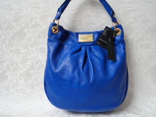 by Marc Jacobs Meteorite Blue Leather Classic Q Hillier Hobo Handbag