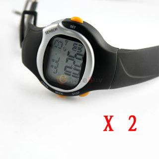 Lot 2 4th Generation Pulse Heart Rate Monitor Watch with Calories