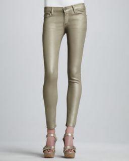 Koral Skinny Dark Gold Metallic Jeans