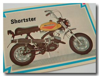 Harley Davidson Parts Shortster Motorcycle Mini Bike Trading Card