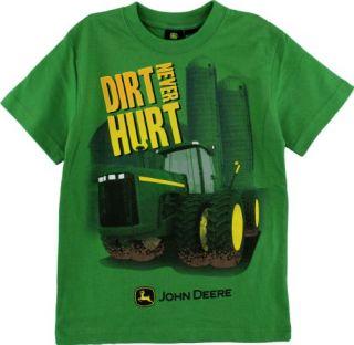 John Deere Dirt Never Hurt Green Boys Short Sleeve Tee