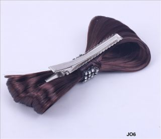 1p LADY GAGA Hair Bow Clip Costume Party Extension Piece Bowknot JO6