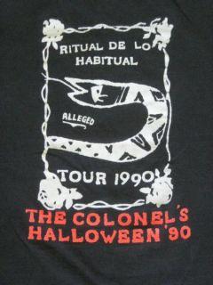 Vtg Janes Addiction Colonels Halloween T Shirt Tour