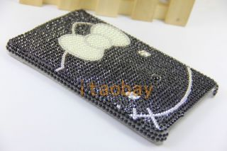 Bling Crystal Hello Kitty Back Cover Case for  Kindle Fire HD 7
