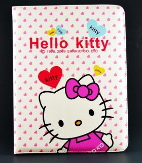 Hello Kitty Puleather Cover Case with Built in Stand for Apple iPad 2