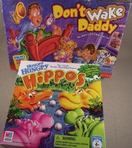 DonT Wake Daddy Hungry Hippos Game Lot 100 Complete