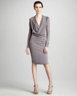 DKNY Draped Jersey Dress