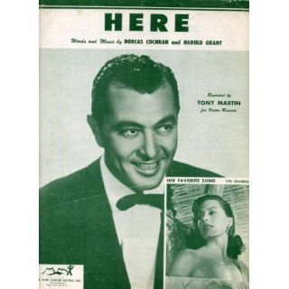 Here Vintage 1954 Sheet Music Recorded by Tony Martin, Cyd