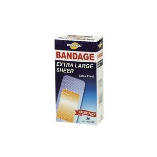 Royal Extra Large Adhesive Bandages   20 Count   Case of