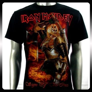 Iron Maiden Heavy Metal Biker Rock Punk T Shirt Sz L IR8 Rider Men
