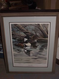 Ducks Unlimited Harold R Roe Secluded Water Print Signed and Numbered