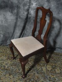 Pair Henkel Harris Mahogany Queen Anne Designer Dining Room Chairs