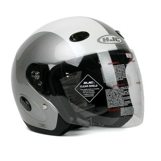 Motorcycle Helmet HJC CL 33 Urbana Silver White Medium