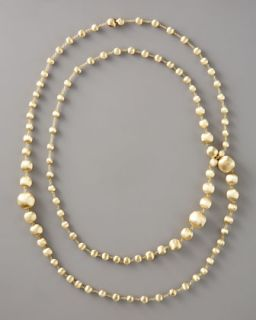 Marco Bicego Long Gold Bead Necklace, 47 1/2L