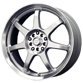 MB Wheels Seven X Silver Machined Wheel (17x7/4x100mm)