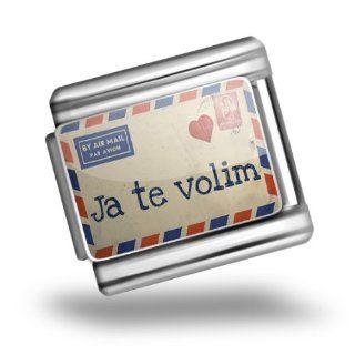 Italian Charms Original I Love You Love Letter from Croatia Croatian