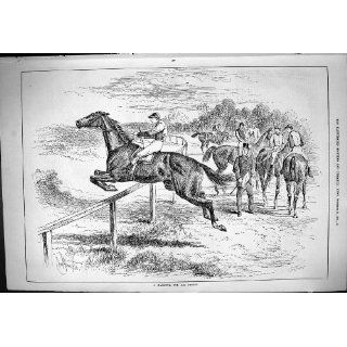 Sporting Dramatic News 1883 Lively Horse Racing Jockey