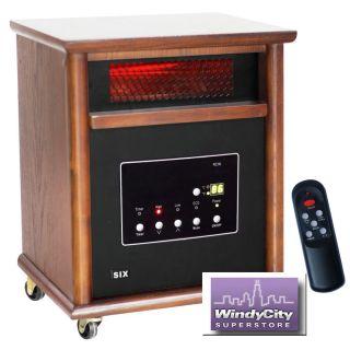 element 1800 square foot infrared quartz heater w furniture cabinet
