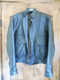 Hein Gericke Concord Leather Motorcycle Jacket Size 36