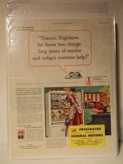 Vintage 1944 Frigidaire Refrigerator Home Appliance Magazine Ad
