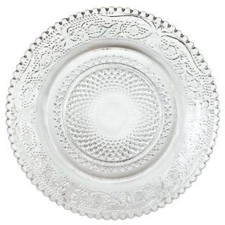 America Retold Vintage Pressed Glass Appetizer Plate, Set