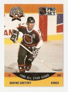 1990 91 Wayne Gretzky Pro Set All Star Hockey Trading Card 340
