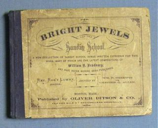 1869 Bright Jewels A Collection of Sunday School Songs