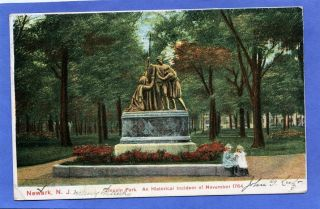 Newark NJ Lincoln Park Statue 2 Young Girls by Helfer