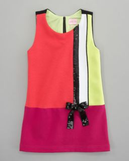 Zoe Colorblock Mod Shift Dress   Neiman Marcus
