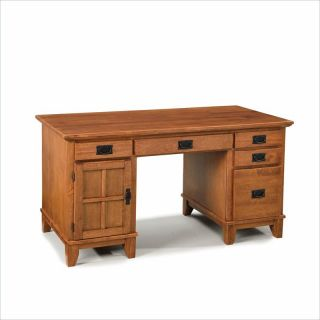 Home Styles Furniture Arts & Crafts Wood Pedestal Cottage Oak Computer