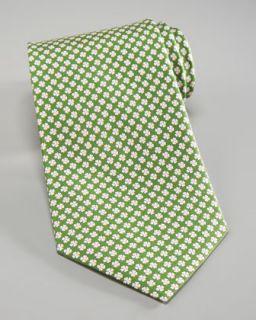 Salvatore Ferragamo Clover Print Silk Tie