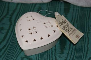 Hartley Greens Company Heart Trinket Box Leeds Pottery