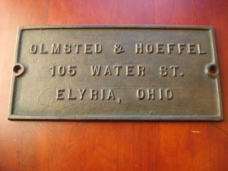 Business Building Sign Elyria Ohio Olmsted Hoeffel 105 Water