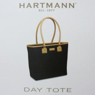 Hartmann Fashion Day Tote Black Bag Nylon Womens Handbag Purse